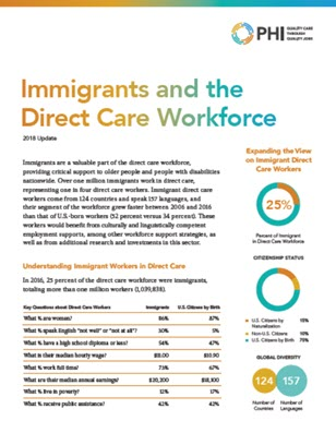 Immigrants and the Direct Care Workforce (2018)