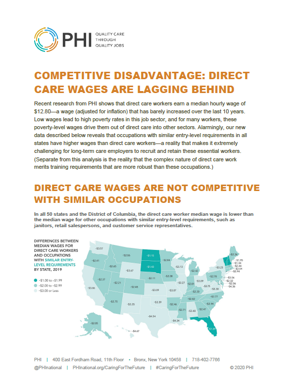 Competitive Disadvantage: Direct Care Wages Are Lagging Behind