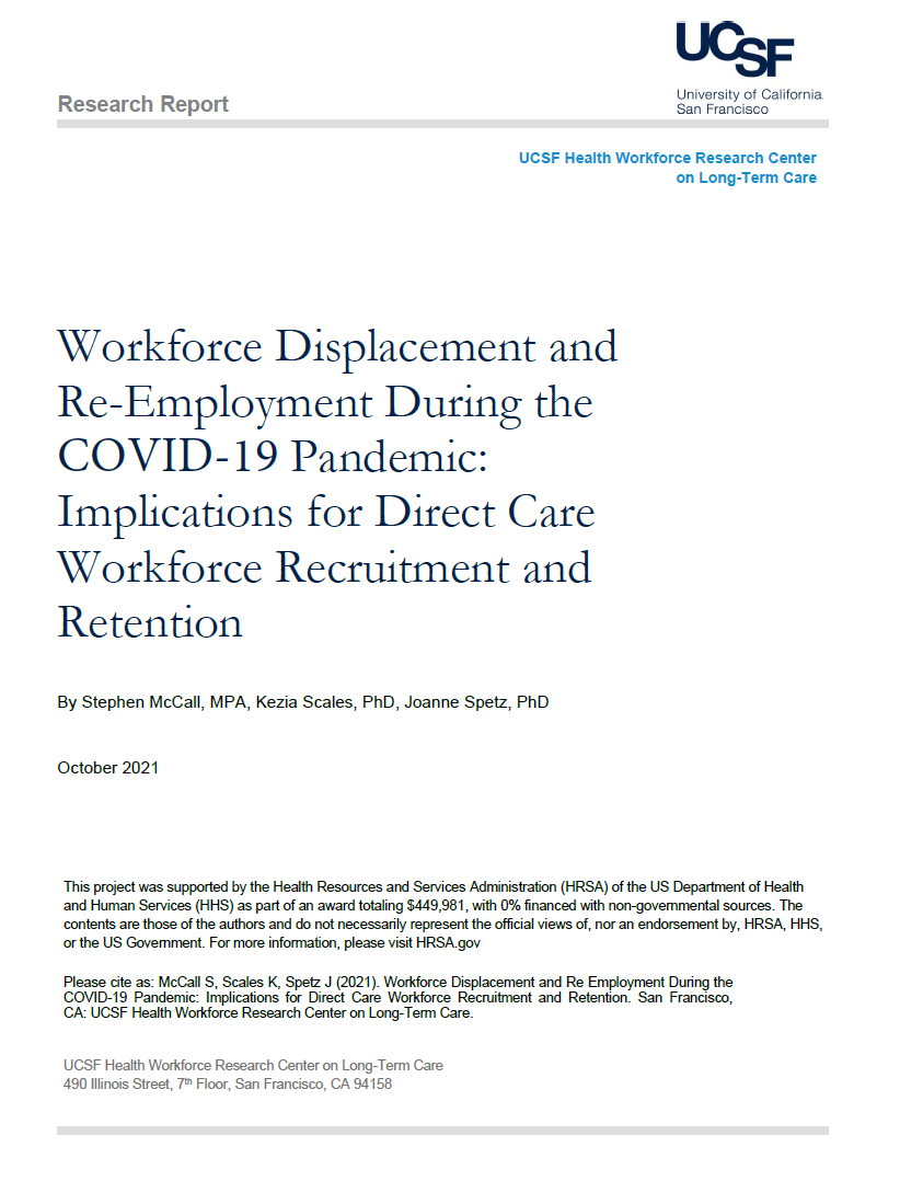Workforce Displacement and Re-Employment During the COVID-19 Pandemic