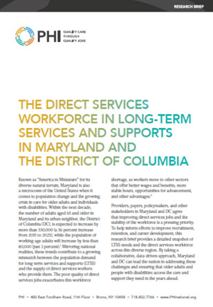 The Direct Services Workforce in LTSS in MD and DC